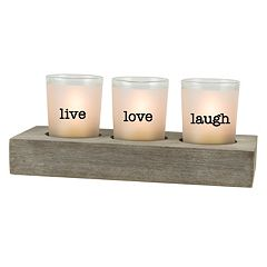 San Miguel 'Love' 3-Light Tealight Candle Holder 4-piece Set