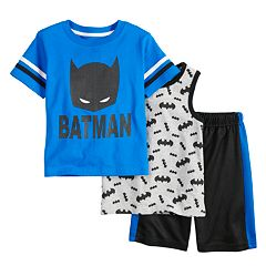 Toddler Boy Batman 3 Piece Tee, Tank Top & Shorts Set