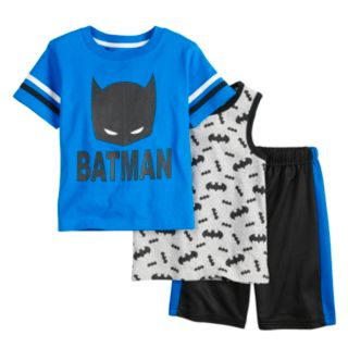 Baby Boy Batman 3 Piece Tee, Tank Top & Shorts Set