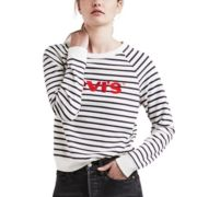 Women's Levi's Striped Crewneck Sweatshirt
