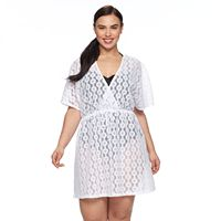Plus Size Apt. 9® Crochet Surplice Cover-Up
