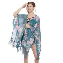 Women's Mudd® Fringed Floral Kimono