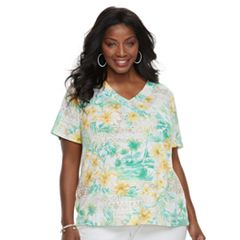 Plus Size Alfred Dunner Studio Floral Top