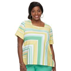 Plus Size Alfred Dunner Studio Stripe Top