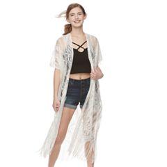 Women's Mudd® Paisley Lace Kimono