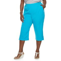 Plus Size Alfred Dunner Studio Button Hem Capris