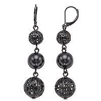 Simply Vera Vera Wang Stacked Filigree Beaded Earrings