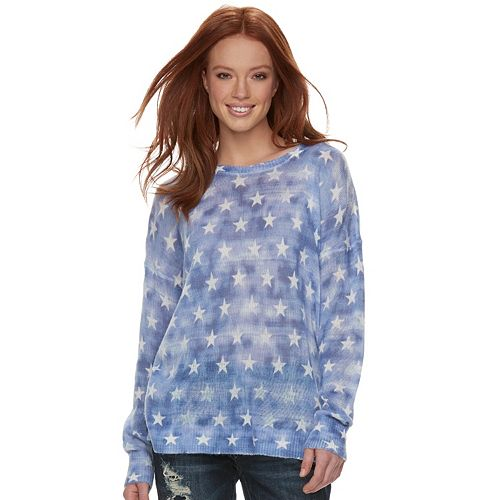 Women's Rock & Republic® Star Crewneck Sweater