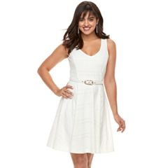 Women's Jennifer Lopez Lace Fit & Flare Dress