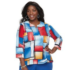 Plus Size Alfred Dunner Studio Patchwork Top