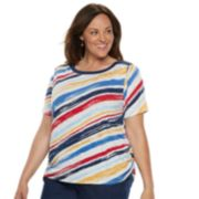 Plus Size Alfred Dunner Studio Scroll Striped Top