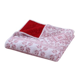 Greenland Home Fashions Holly Cross Stitched Throw