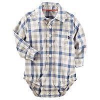 Baby Boy OshKosh B'gosh® Plaid Button-Front Bodysuit
