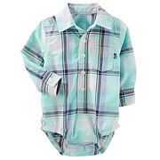 Baby Boy OshKosh B'gosh® Plaid Button-Front Bodysuit