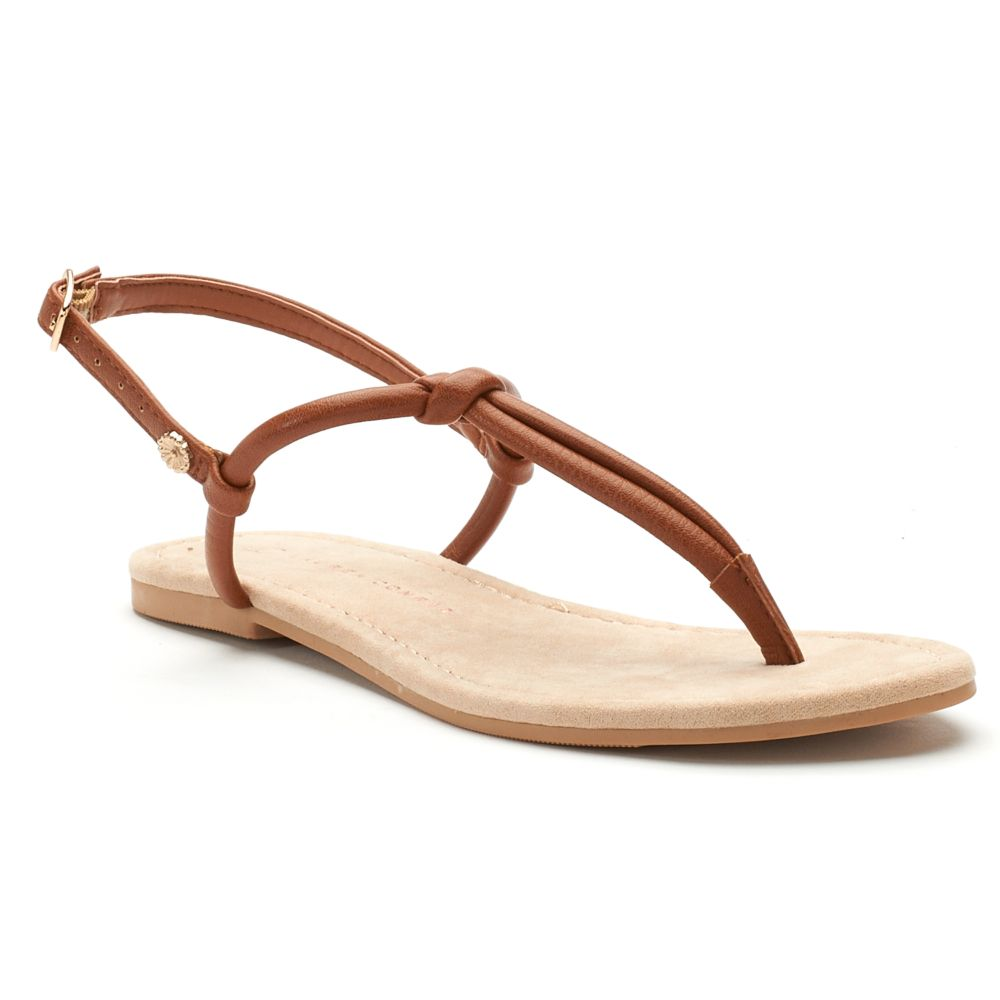 Women's LC Lauren Conrad Basic ... Knotted T-Strap Sandals