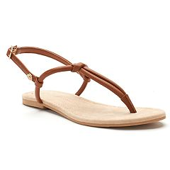 Women's LC Lauren Conrad Basic Knotted T-Strap Sandals