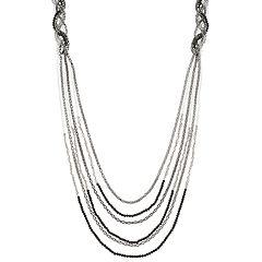 Simply Vera Vera Wang Two Tone Beaded Multi Strand Long Necklace