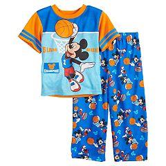 Disney's Mickey Mouse Toddler Boy 'Slam Dunk' Basketball Top & Bottoms Pajama Set