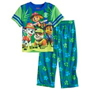 Toddler Boy Paw Patrol Chase, Marshall, Rubble & Skye Jungle Top & Bottoms Pajama Set