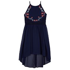 Girls 7-16 IZ Amy Byer Embroidered Floral High-Low Hem Georgette Dress
