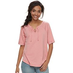 Women's SONOMA Goods for Life™ Lace-Up Sweatshirt
