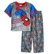 Toddler Boy Marvel Spider-Man 'Totally Amazing' Top & Bottoms Pajama Set