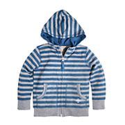Toddler Boy Burt's Bees Baby Striped Organic Zip Hoodie