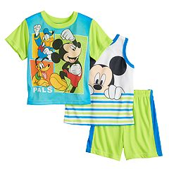 Disney's Mickey Mouse Toddler Boy 'Pals' Tank Top, Tee & Shorts Pajama Set