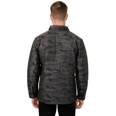 Men's Mountain and Isles Camo Puffer Shirt Jacket