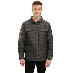 Men's Mountain and Isles Camo Puffer Shirt Jacket