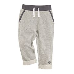 Toddler Boy Burt's Bees Baby Pique Rolled Cuff Organic Pants