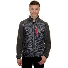 Men's Mountain and Isles Camo Mixed Media Hybrid Fleece Jacket