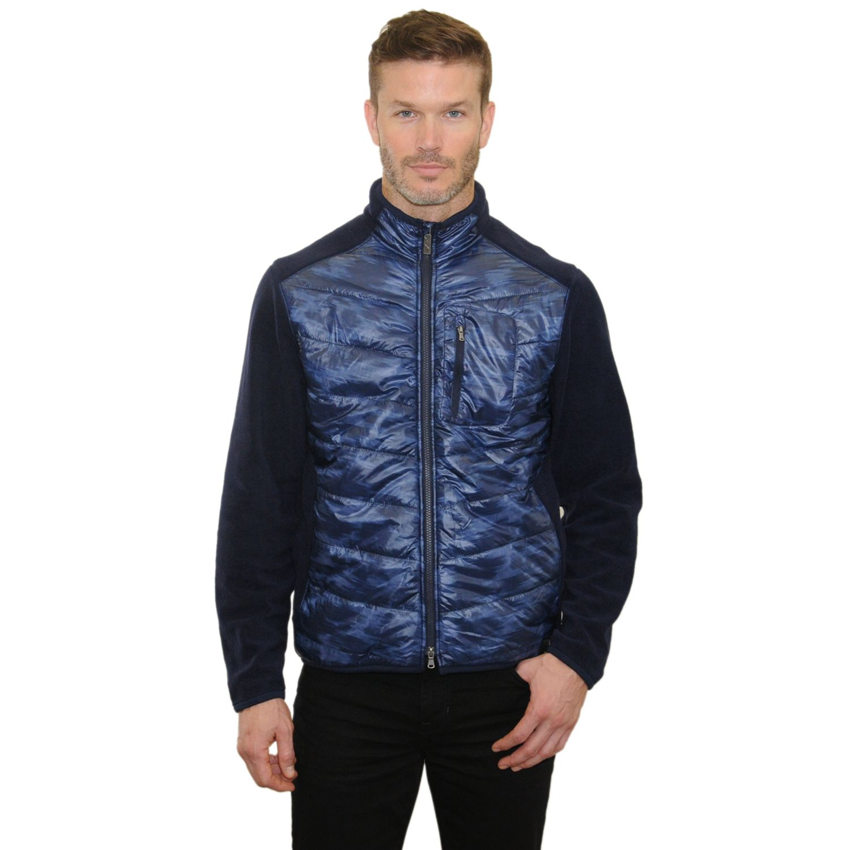 Navy blue fleece jacket men's