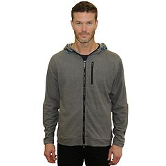 Men's Mountain and Isles Heathered Stretch Fleece Zip-Up Hoodie