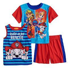 Toddler Boy Paw Patrol Rubble, Skye, Chase & Marshall Tops & Shorts Pajama Set