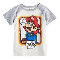 Toddler Boy Jumping Beans® Super Mario Bros. Mario Raglan Graphic Tee