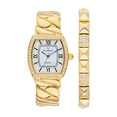 Peugeot Women's Crystal Watch & Bracelet Set - 7099GST