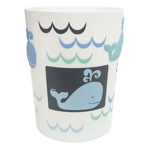 Allure Home Creations Whale Watch Wastebasket
