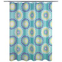 Allure Home Creations Atomic Circle Shower Curtain