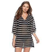 Women's Apt. 9® Hooded Striped Cover-Up