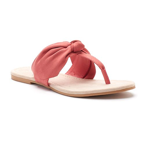LC Lauren Conrad Women's ... Floppy Knot Thong Sandals free shipping prices ZftP9J