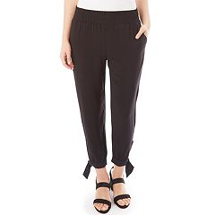 Women's Apt. 9® Smocked Tie Accent Jogger Pants