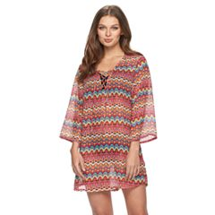 Women's Apt. 9® Zigzag Lace-Up Cover-Up