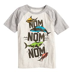Boys 4-10 Jumping Beans® 'Nom Nom Nom' Shark Graphic Tee