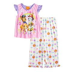 Toddler Girl Paw Patrol 'Folow The Rainbow' Chase, Marshall, Rubble & Skye Top & Bottoms Pajama Set