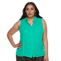Plus Size Apt. 9® Button-Front Tank
