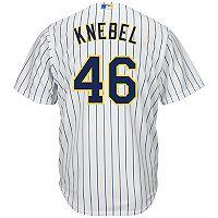 Men's Majestic Milwaukee Brewers Corey Knebel Replica Jersey