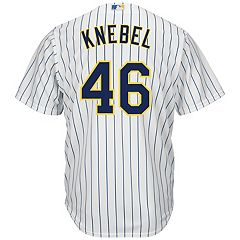 Men's Majestic Milwaukee Brewers Corey Knebel Replica Jersey