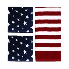 Celebrate Americana Together Flag Kitchen Towel & Dishcloth Set