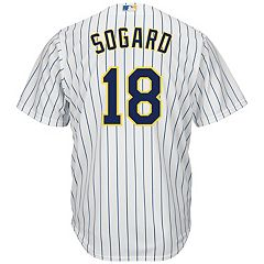 Men's Majestic Milwaukee Brewers Eric Sogard Replica Jersey